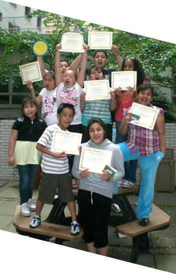 Kids with diplomas